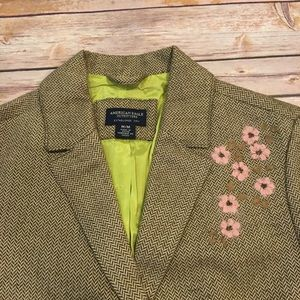 American Eagle Outfitters Jackets & Coats - American Eagle Tweed Blazer with floral accents, M